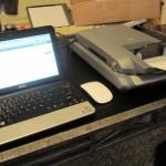 """Epson Perfection 2480 Next to 10"""" Hackintosh Netbook"""